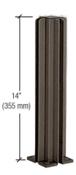 "CRL D990DU143W Duranodic Bronze 14"" 3-Way Design Series Partition Post"