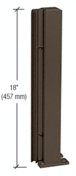 "CRL D990DU18135R Duranodic Bronze 18"" 135 Degree RH Center Design Series Partition Post"