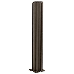 "Duranodic Bronze 30"" 3-Way Design Series Partition Post"