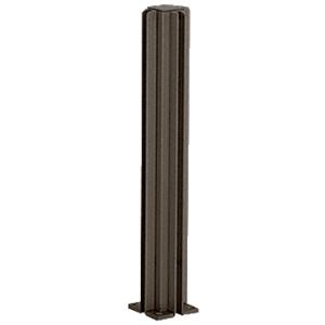 "Duranodic Bronze 30"" Corner Design Series Partition Post"
