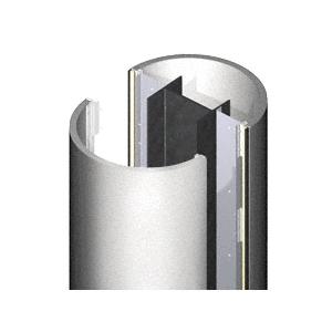 CRL PCR2X8SM Silver Metallic 2' x 8' Premium Round Column Cover