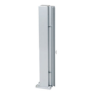 """Satin Anodized 18"""" 135 Degree LH Center Design Series Partition Post"""