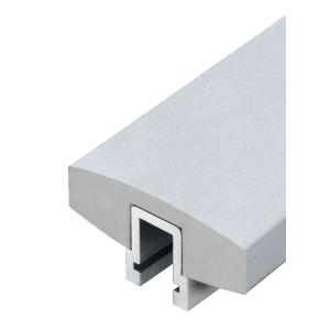 """Mill Aluminum 398 Series 4"""" Wide Rectangular Aluminum Cap Rail"""