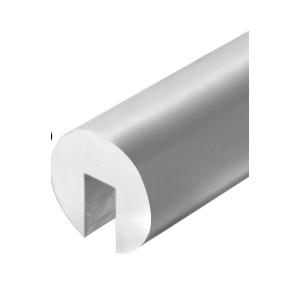 """Satin Anodized 338 Series 2-1/2"""" Diameter Aluminum Cap Rail"""