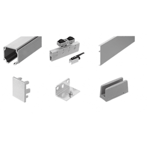 70 Satin Anodized Series Single Sliding Door Wall Mount Kit