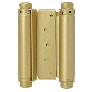 "Dull Brass 1"" to 1-1/2"" Double-Acting Spring Hinge"