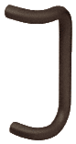 "CRL M174810B 8"" Painted Dark Bronze Solid Offset Pull Handle"