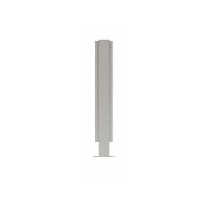 """Brushed Stainless 18"""" High 1"""" Square PP47 Mini Plaza Series Partition Center Post With U-Channel"""