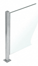"""CRL PP47CBS Brushed Stainless 18"""" High 1"""" Square PP47 Mini Plaza Series Partition Center Post With U-Channel"""