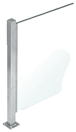 """CRL PP47LBS Brushed Stainless 18"""" High 1"""" Square PP47 Mini Plaza Series Partition Corner Post with U-Channel"""