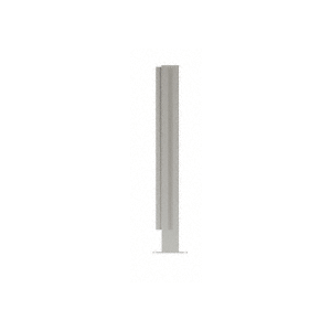 """Brushed Stainless 18"""" High 1"""" Square PP47 Mini Plaza Series Partition Corner Post with U-Channel"""