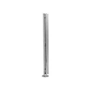 "CRL SBPP08LBS Brushed Stainless 18"" x 1"" SBPP08 Slimline Series Round Corner Partition Post"