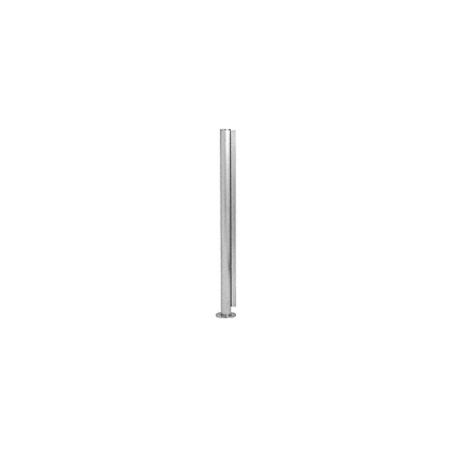 CRL PP58CBS Brushed Stainless 24 High 1 Round Slimline Series Straight Front Counter//Partition Center Post