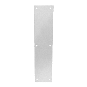 """Clear Anodized Push Plate 3-1/2"""" x 15"""""""