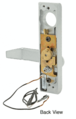 """Jackson 8500EL022628 Electric Outside Lever Trim for 2"""" Thick Doors with Flat Style Lever Satin Aluminum Finish 24 Volt DC"""