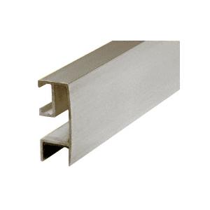 "CRL RF144BN Brushed Nickel Rectangular Mirror Frame Extrusion 144"" Stock Length"
