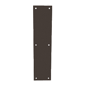 "CRL M60310B Oil Rubbed Bronze Push Plate 3-1/2"" x 15"""