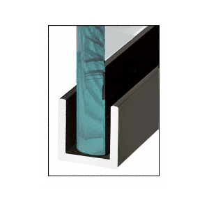 "Painted Oil Rubbed Bronze Wet Glaze 1"" Deep U-Channel 120"" Stock Length"