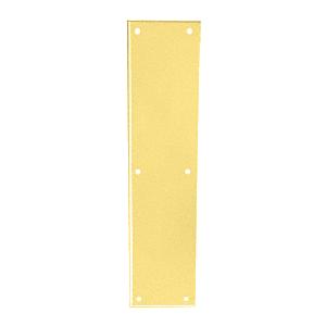 "Polished Brass Push Plate 3-1/2"" x 15"""