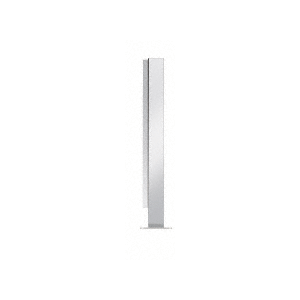 "Polished Stainless 18"" High 1"" Square PP47 Mini Plaza Series Partition End Post With U-Channel"