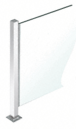 "CRL PP47EPS Polished Stainless 18"" High 1"" Square PP47 Mini Plaza Series Partition End Post With U-Channel"