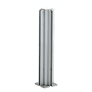 """Satin Anodized 16"""" 4-Way Design Series Partition Post"""