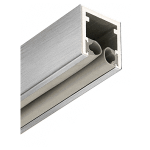 """Brushed Stainless 1-7/8"""" Head Channel for 1/2"""" (12 mm) Glass - 120"""""""