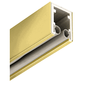 """Polished Brass 1-5/8"""" Head Channel for 1/2"""" Glass - 120"""""""