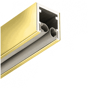 """Polished Brass 1-7/8"""" Head Channel for 1/2"""" (12 mm) Glass - 120"""""""