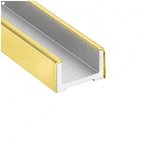 """Polished Brass Wet Glaze U-Channel for 3/4"""" (19 mm) Glass 120"""""""