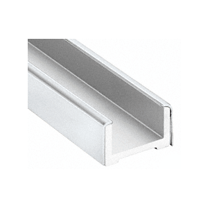 """Polished Stainless Wet Glaze U-Channel for 3/4"""" (19 mm) Glass 120"""""""