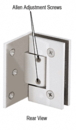 CRL GEN344CH Adjustable Polished Chrome Wall Mount Offset Back Plate