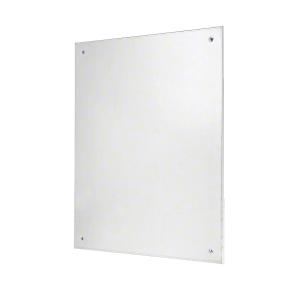 """CRL 5301824 18"""" x 24"""" Frameless Stainless Steel Mirror"""