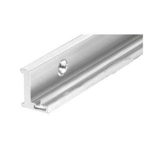 """Brite Anodized 98"""" Aluminum Jamb With Clear Vinyl Wipe"""