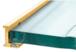 "CRL AJ98BGA Brite Gold Anodized 98"" Aluminum Jamb With Clear Vinyl Wipe"