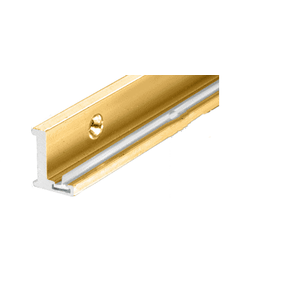 """Brite Gold Anodized 98"""" Aluminum Jamb With Clear Vinyl Wipe"""