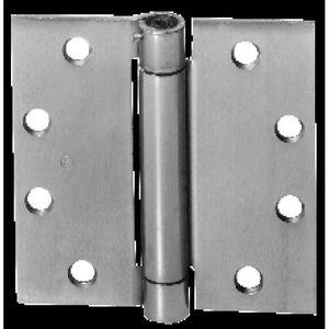 "McKinney 150241215 4-1/2"" x 4-1/2"" Square Corner Steel Single Acting Standard Weight Full Mortise Spring Hinge # 156022 Satin Nickel Finish"
