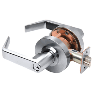 Heavy-Duty Polished Chrome Grade 1 Lever Locksets Storeroom - Schlage 6-Pin