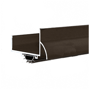 "CRL 17VRD48 48"" Dark Bronze Anodized U-Shape Door Bottom"