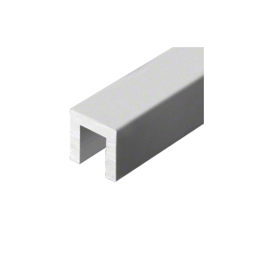 "Satin Anodized 3243 Series 1-1/2"" x 1-1/2"" Extruded Aluminum Cap Rail"
