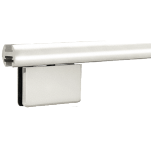 "Brite Anodized 95"" EZ-Adjust Shower Door Header Only"
