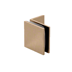 Brushed Bronze Fixed Panel Square Clamp With Small Leg