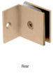 CRL SGC037BBRZ Brushed Bronze Fixed Panel Square Clamp With Small Leg