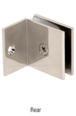 CRL SGC037PN Polished Nickel Fixed Panel Square Clamp With Small Leg