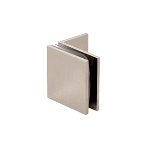 Brushed Nickel Fixed Panel Square Clamp With Small Leg
