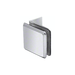 Polished Chrome Fixed Panel Beveled Clamp With Small Leg