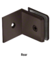 CRL BGC0390RB Oil Rubbed Bronze Fixed Panel Beveled Clamp With Large Leg
