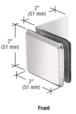 CRL BGC039PN Polished Nickel Fixed Panel Beveled Clamp With Large Leg