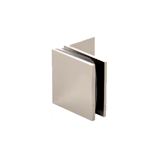 Polished Nickel Fixed Panel Square Clamp With Small Leg