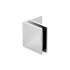 Satin Chrome Fixed Panel Square Clamp With Small Leg